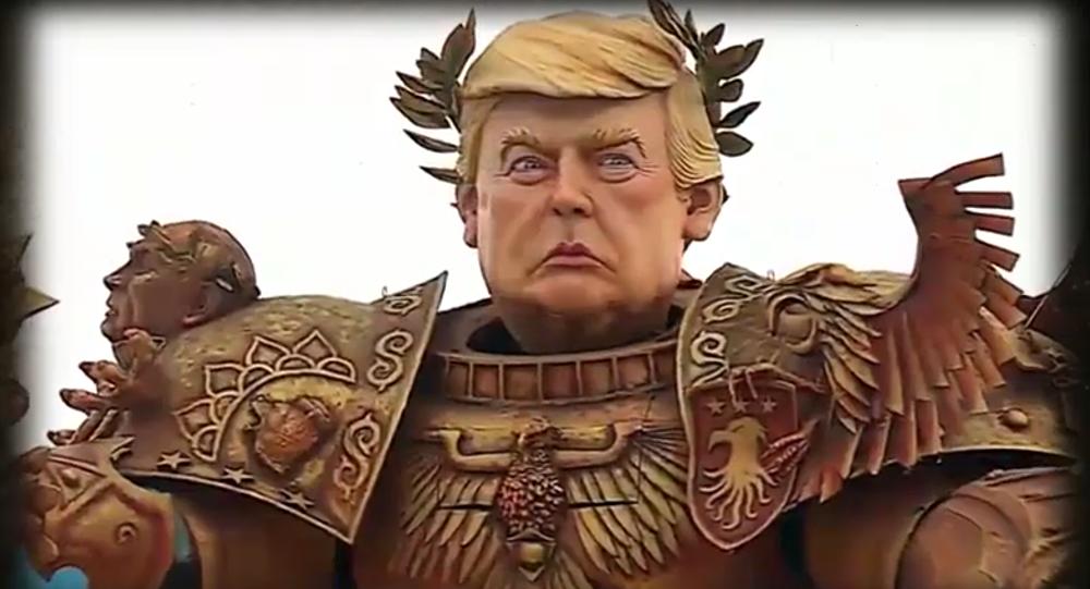 تمثال ترامب المحارب