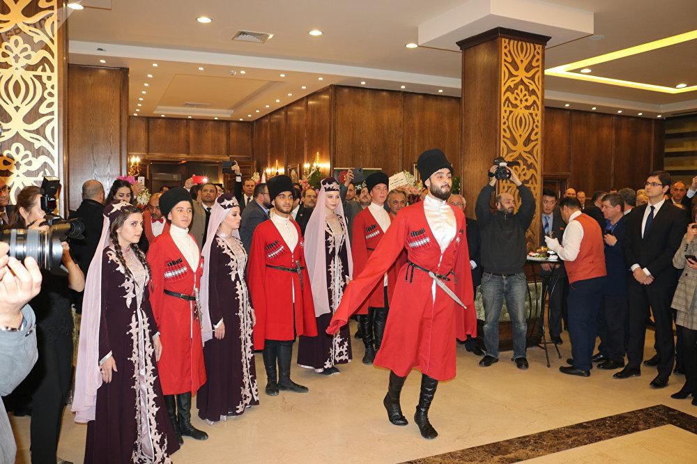 حفل الاستقبال الذي أقامته السفارة الروسية في دمشق بمناسبة الذكرى الـ 101 لتأسيس الجيش الروسي
