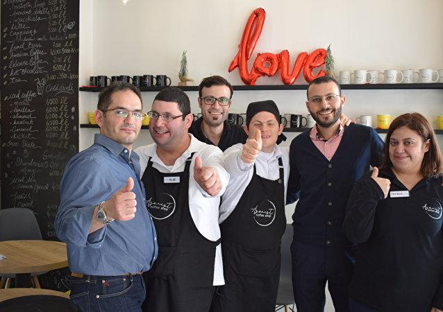 مقهى أغونيست في محلة الزلقا شمال لبنان