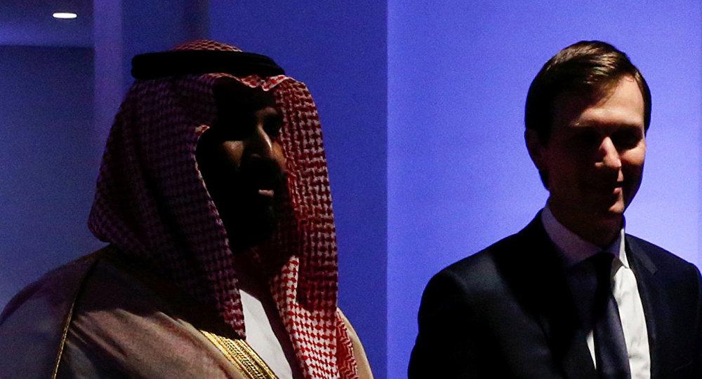 بن سلمان يرافق كوشنير كبير مستشاري البيت الأبيض في المركز العالمي لمكافحة الفكر المتطرف في الرياض