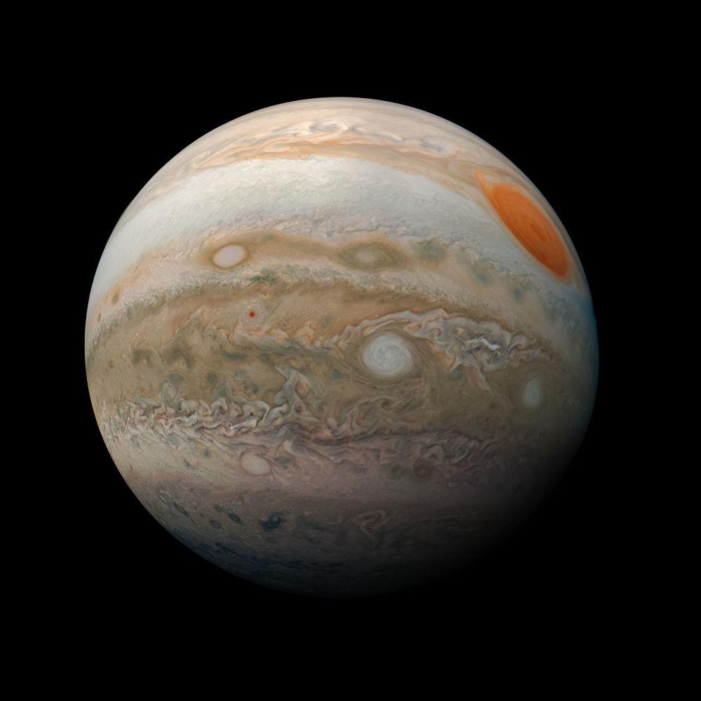 صورة جديدة لكوكب المشتري من قبل مسبار جونو لوكالة ناسا، 25 فبراير/ شباط 2019