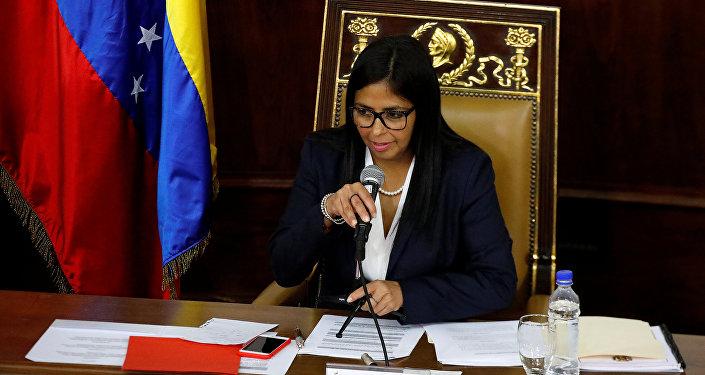 نائبة الرئيس الفنزويلي ديلسي رودريغيز