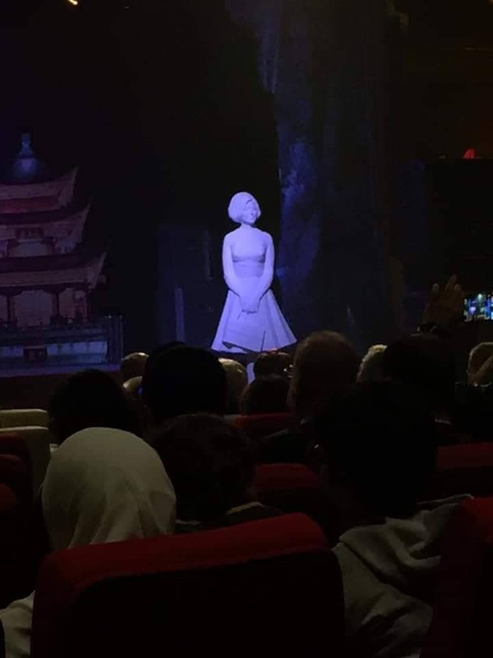 تمثال سعاد حسني في مهرجان شرم الشيخ للسينما الآسيوية