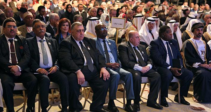 حمودة صباغ رئيس مجلس الشعب السوري يحضر المؤتمر التاسع والعشرين للاتحاد البرلماني العربي في عمان