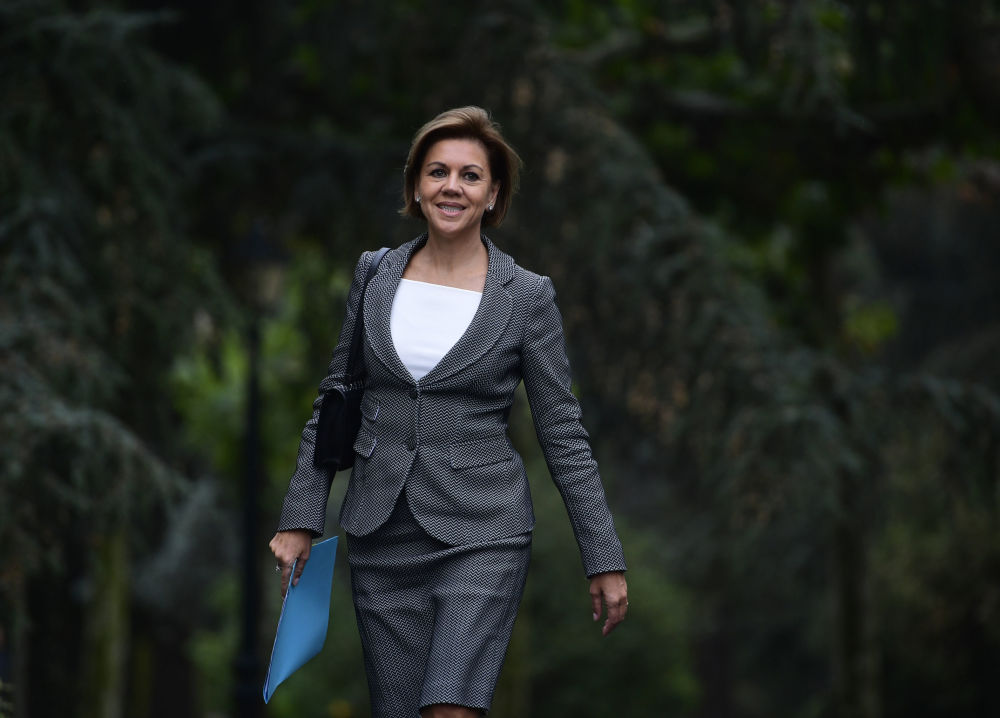 وزيرة الدفاع الإسبانية ماريا دولوريس دي كوسبيدال، 4 نوفمبر/ تشرين الثاني 2016
