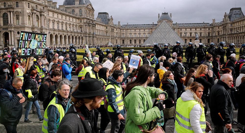 مظاهرات السترات الصفراء، السبت 9 مارس/آذار