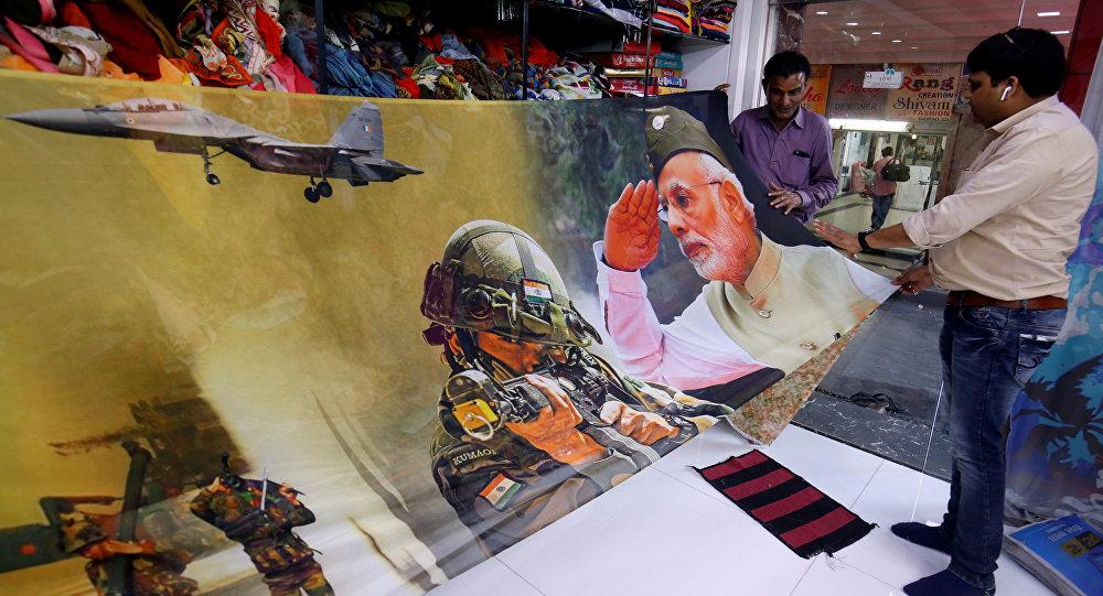 صور مطبوعة لرئيس الوزراء الهندي والجيش الهندي