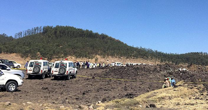 موقع تحطم الطائرة الإثيوبية