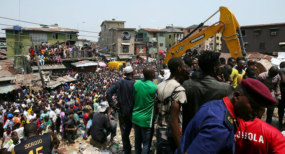 انهيار مبنى في نيجيريا