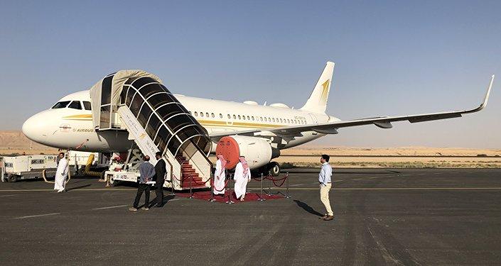 طائرة سكاي برايم في معرض السعودية الدولي الأول للطيران