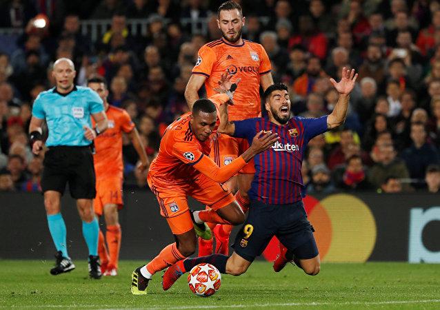 مباراة برشلونة وليون