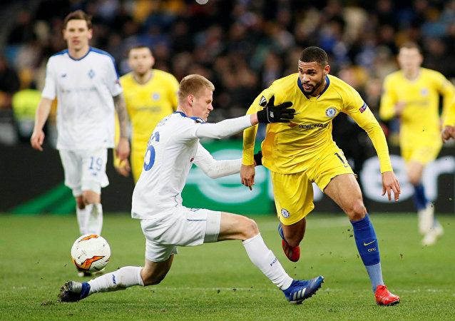 من مباراة تشيلسي مع دينامو كييف الأوكراني