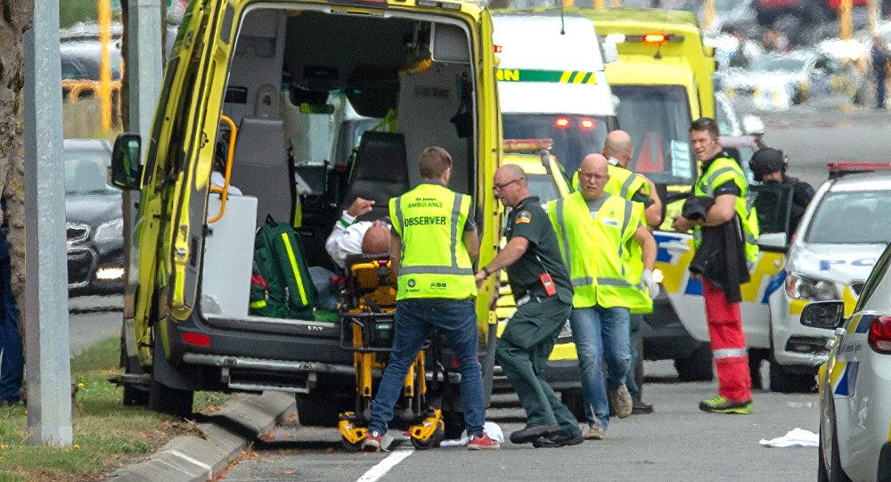 موقع الحادثة في نيوزيلند
