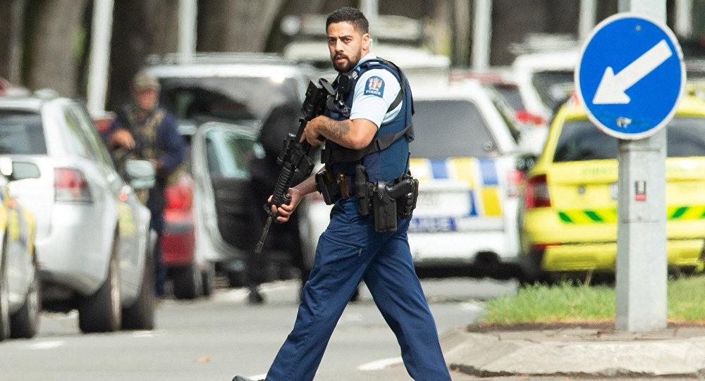 الشرطة في مكان الحادثة في نيوزيلندا