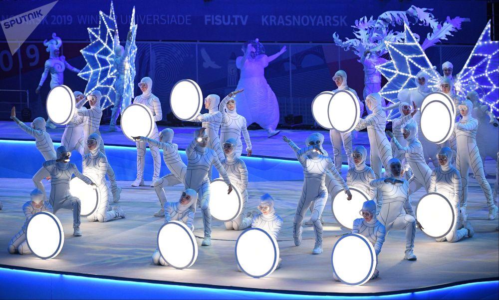 الحفل الختامي لدورة الألعاب الجامعية الشتوية 2019 في كراسنويارسك الروسية