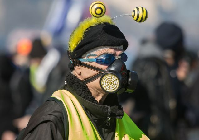 احتجاجات السترات الصفراء في باريس، فرنسا 17 مارس/ آذار 2019