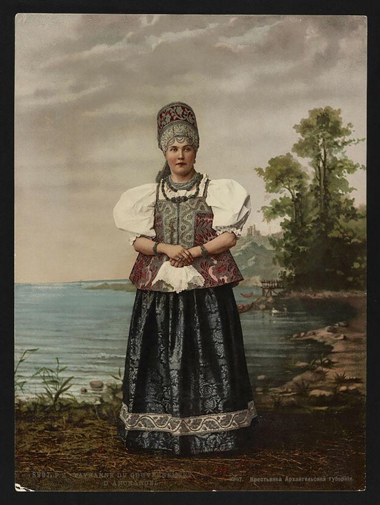 امرأة فلاحية بمقاطعة أرخانغيلسك
