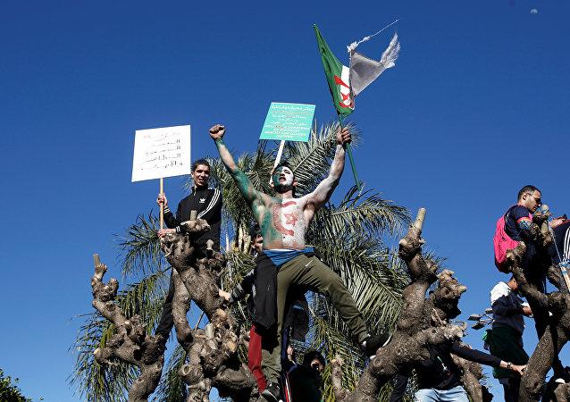 المتظاهرون في الجزائر العاصمة