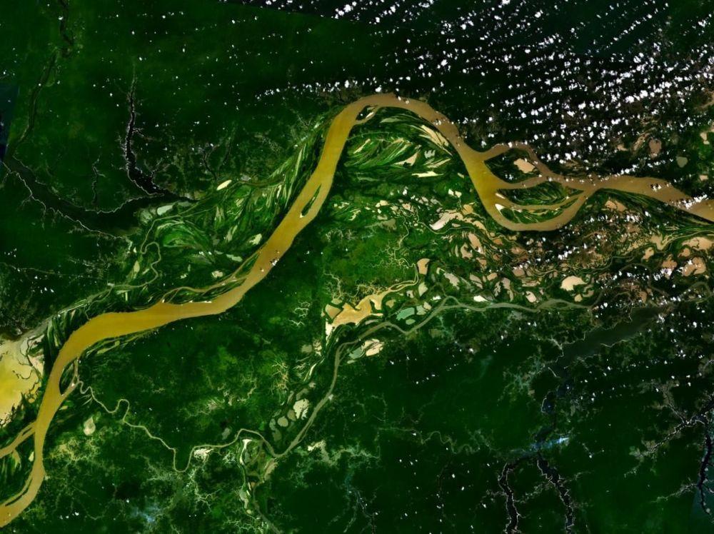 نهر الأمازون من الفضاء
