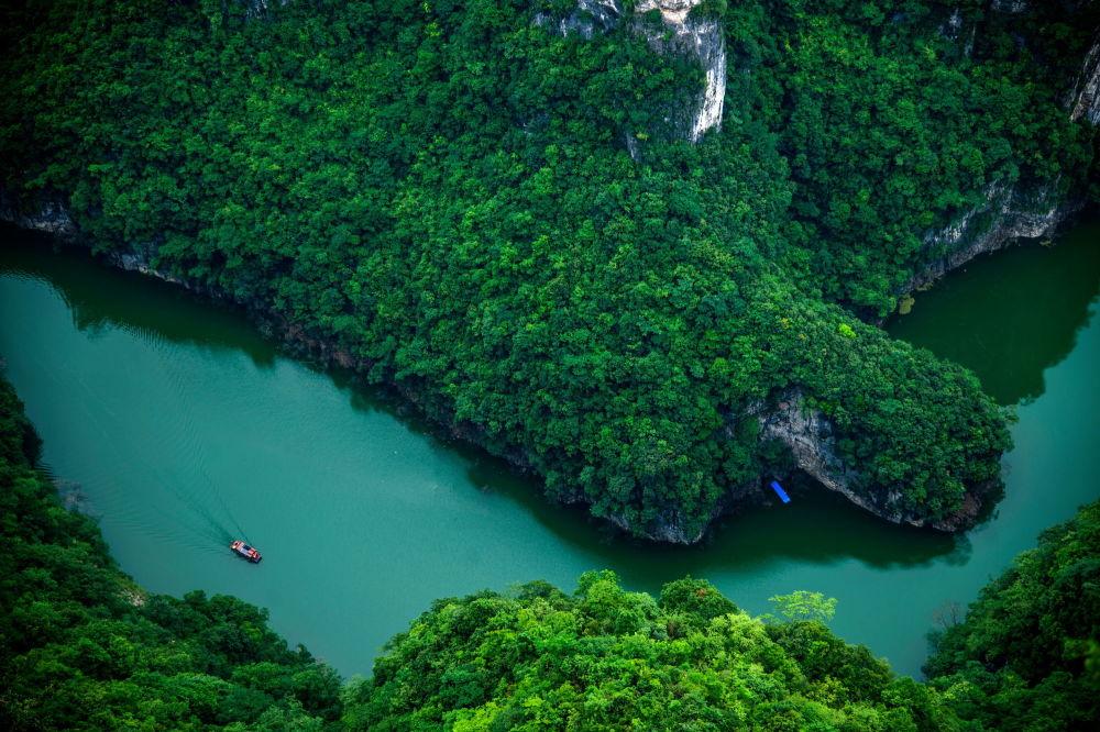 منظر لنهر يانغتسي في الصين