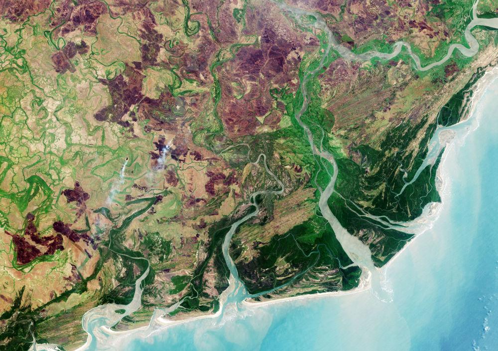 دلتا نهر زامبيزي من الفضاء