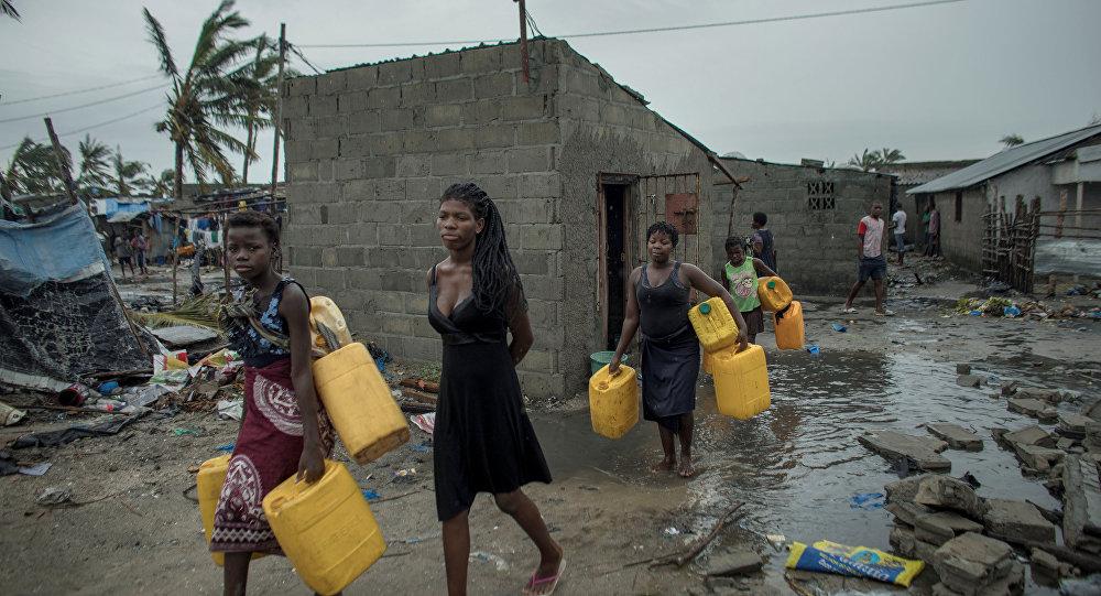 آثار إعصار إيداي موزمبيق