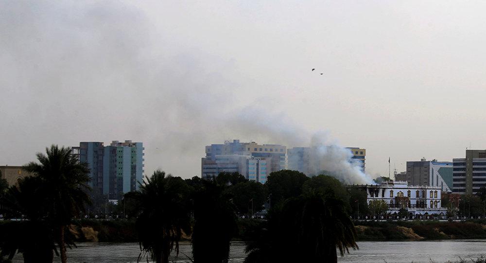 حريق في قصر الرئاسة السوداني