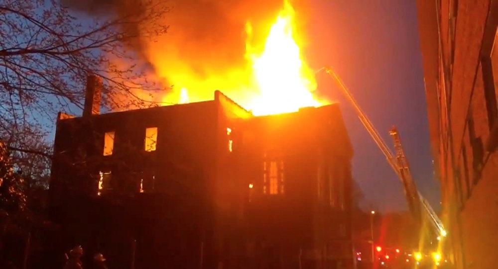 حريق متحف سانت لويس