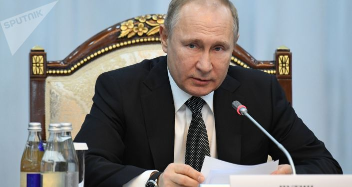 زيارة الرئيس الروسي فلاديمير بوتين إلى بيشكيك، قرغيزيا (قرغيزستان) 28 مارس/ آذار 2019