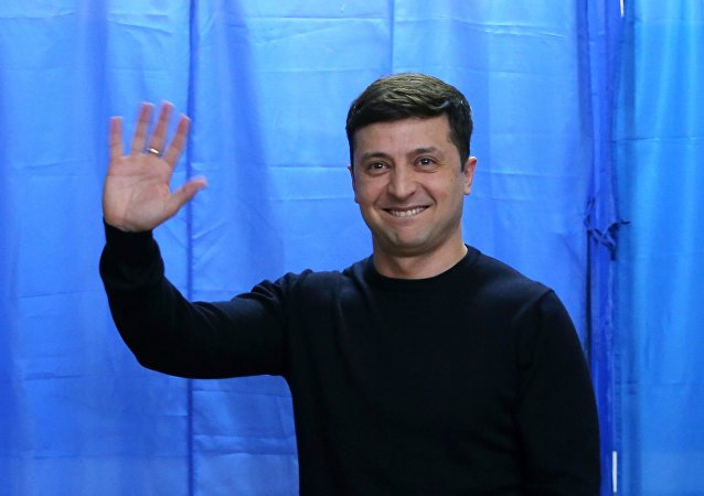 مرشح الرئاسة الأوكرانية فلاديمير زيلينسكي