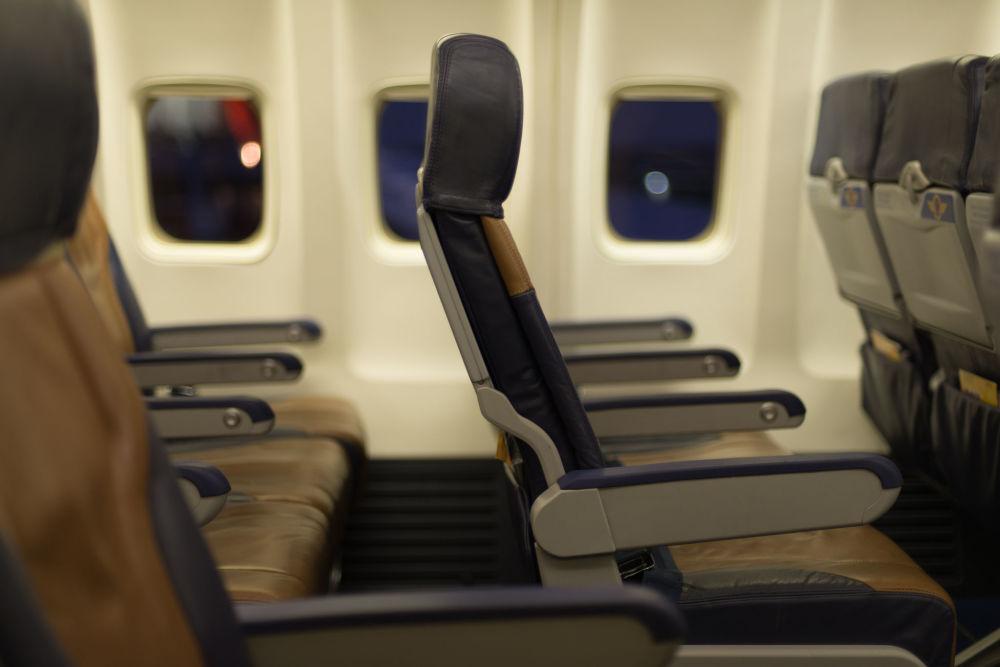 صالون طائرة تابعة لشركة الطيران Southwest Airline