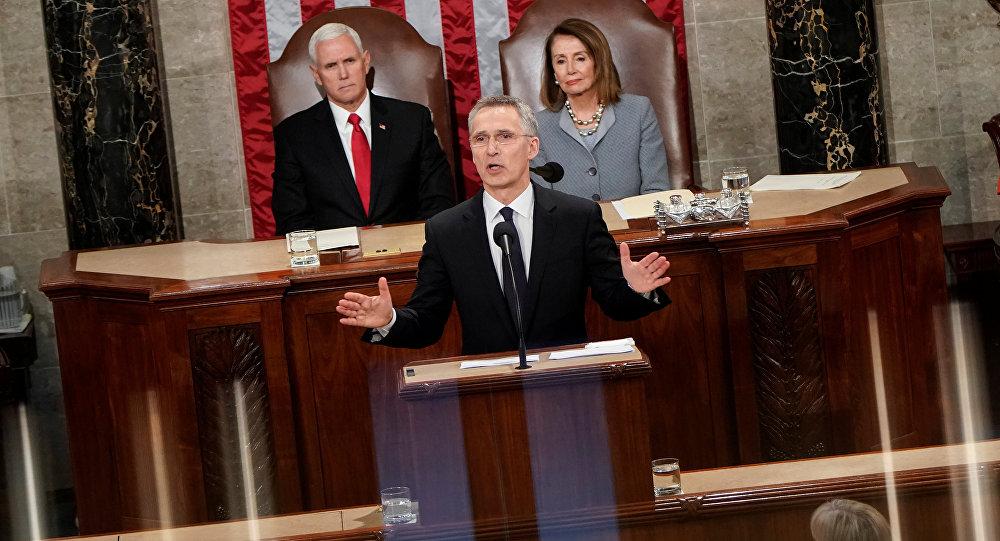 الأمين العام لحلف الناتو ستولتنبرغ يلقي كلمة في اجتماع مشترك للكونغرس في واشنطن