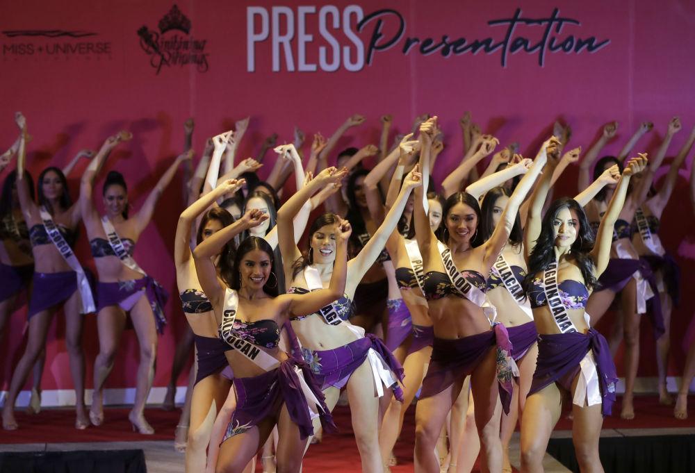 المشاركات في مسابقة ملكة جمال الفلبين 2019 في مدينة كيسون، 4 أبريل/ نيسان 2019