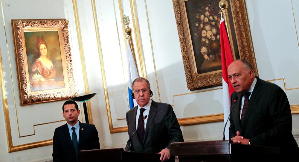 وزير الخارجية الروسي سيرغي لافروف ونظيره المصري سامح شكري
