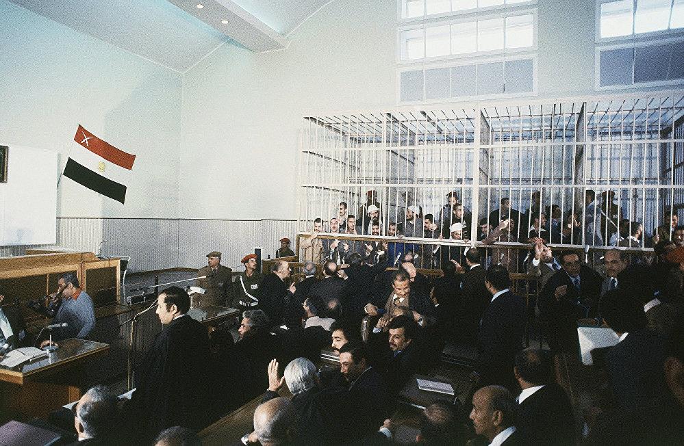محاكمة قتلة الرئيس المصري محمد أنور السادات