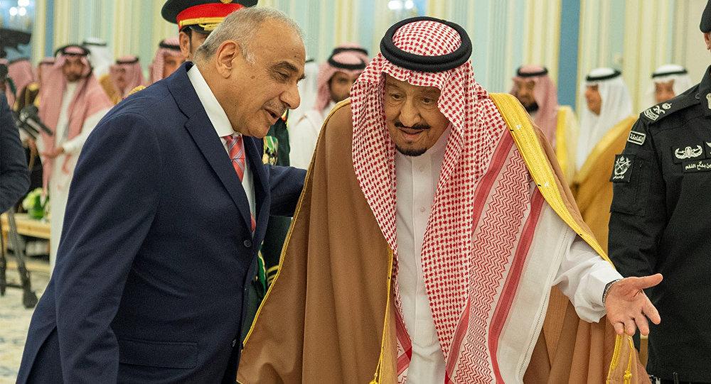 الملك السعودي سلمان بن عبد العزيز ورئيس مجلس الوزراء العراقي عادل عبد المهدي