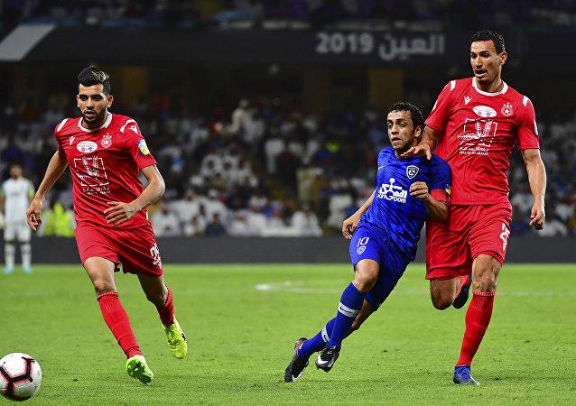 من مباراة الهلال السعودي والنجم الساحلي التونسي، 18 نيسان/أبريل 2019