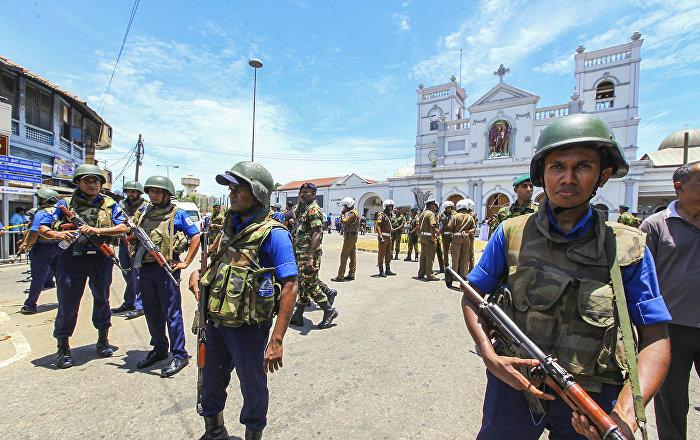 الجيش السريلانكي في العاصمة كولومبو