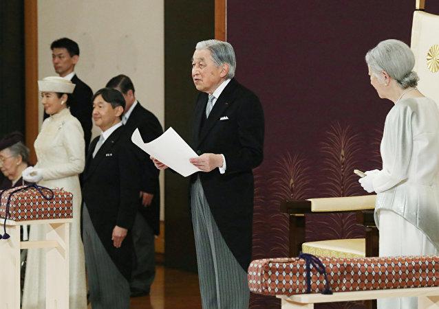 إمبراطور اليابان يلقي بكلمة تنحيه