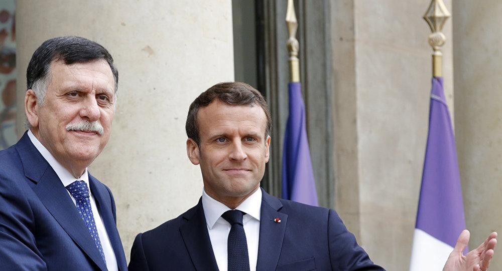 السراج مع ماكرون في باريس