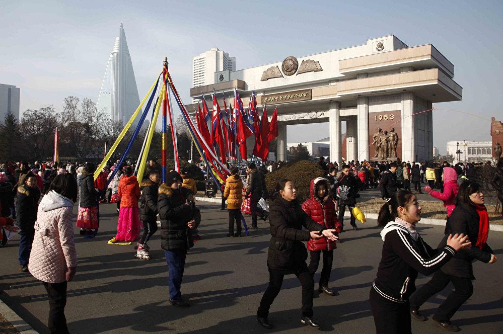 1 يناير، كانون الثاني 2019 في بيونغ يانغ، كوريا الشمالية
