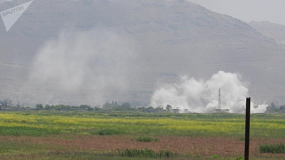 وحدات من الجيش السوري تبسط سيطرتها على بلدة الحويز بريف حماة аль-Хвейз