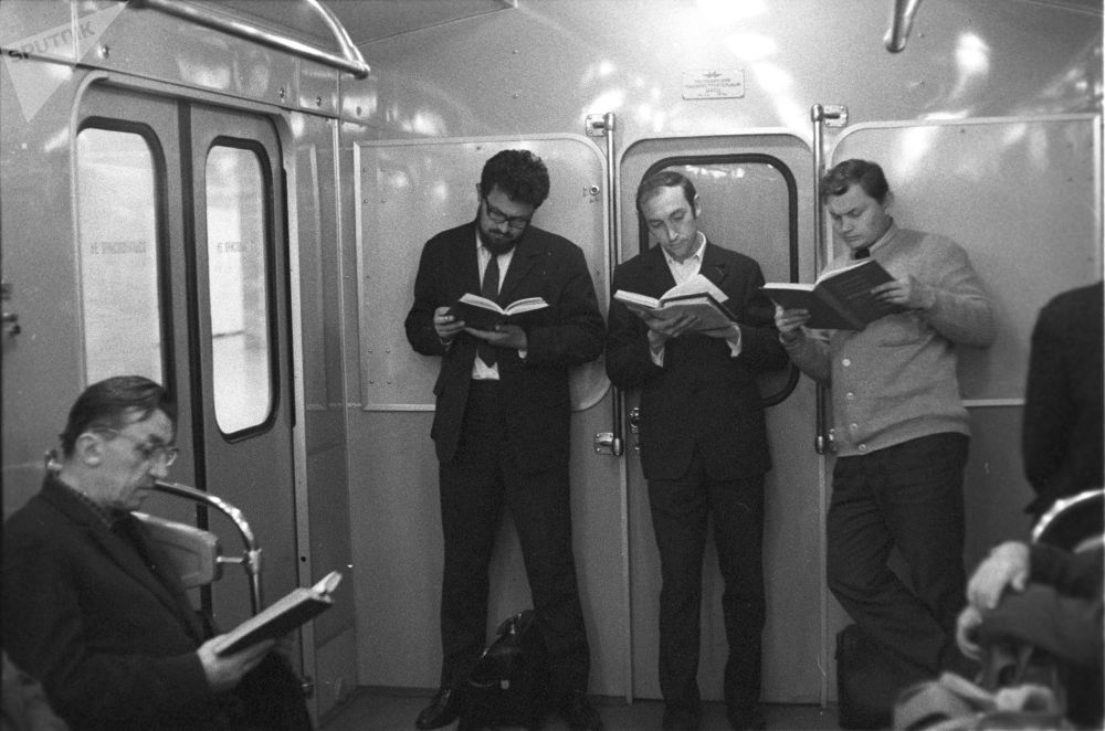 ركاب محطة مترو، موسكو  1973