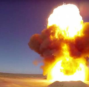 إطلاق صاروخ اعتراضي مضاد للصواريخ في ساحة تجارب ساري شاغان