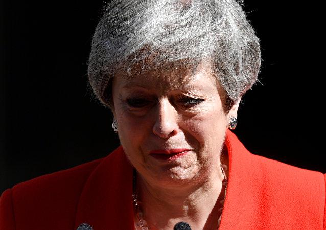 رئيسة الوزراء البريطانية، تيريزا ماي، اليوم الجمعة عن استقالتها من منصبها كزعيمة لحزب المحافظين في بريطانيا، 24 مايو/ أيار 2019