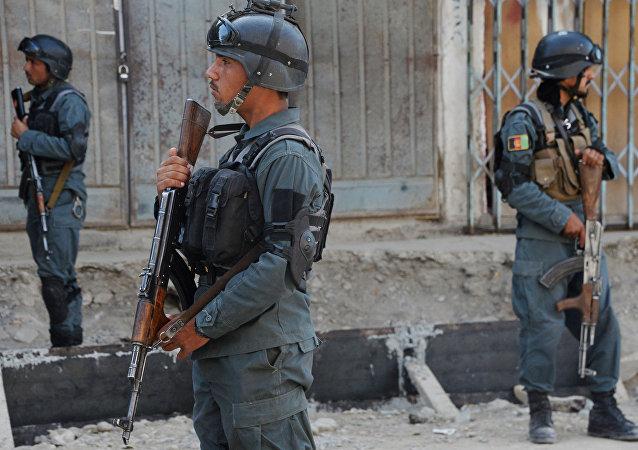 عناصر الشرطة الأفغانية في كابول، أفغانستان