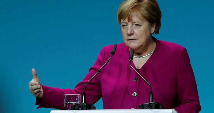 المستشارة الألمانية أنجيلا ميركل، ألمانيا 22 مايو/ أيار 2019