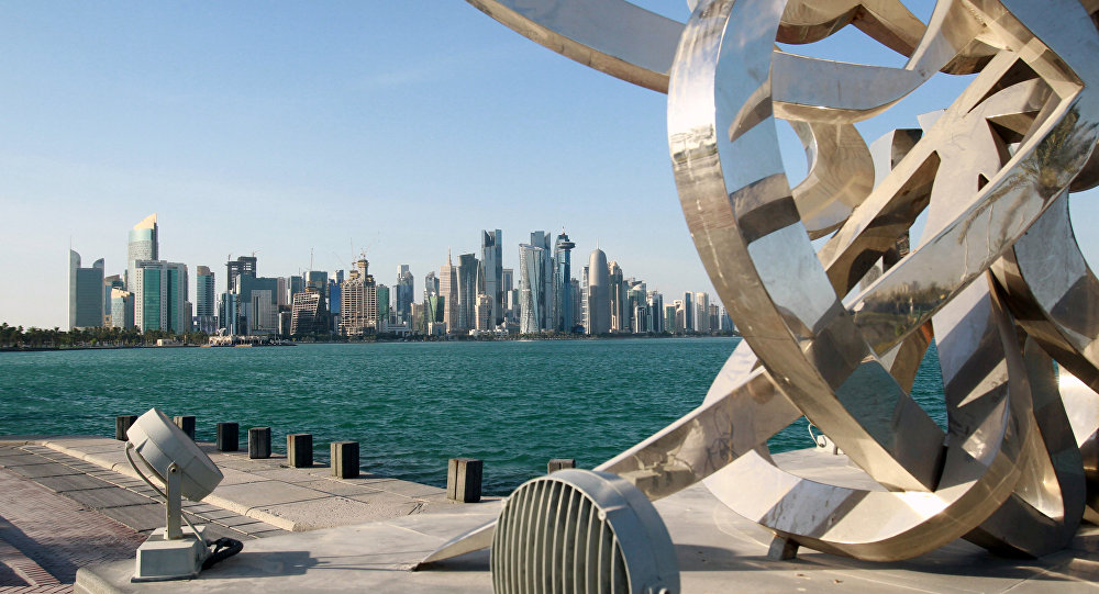 مناظر عامة للمدن العربية - الدوحة، قطر 5 يونيو 2017