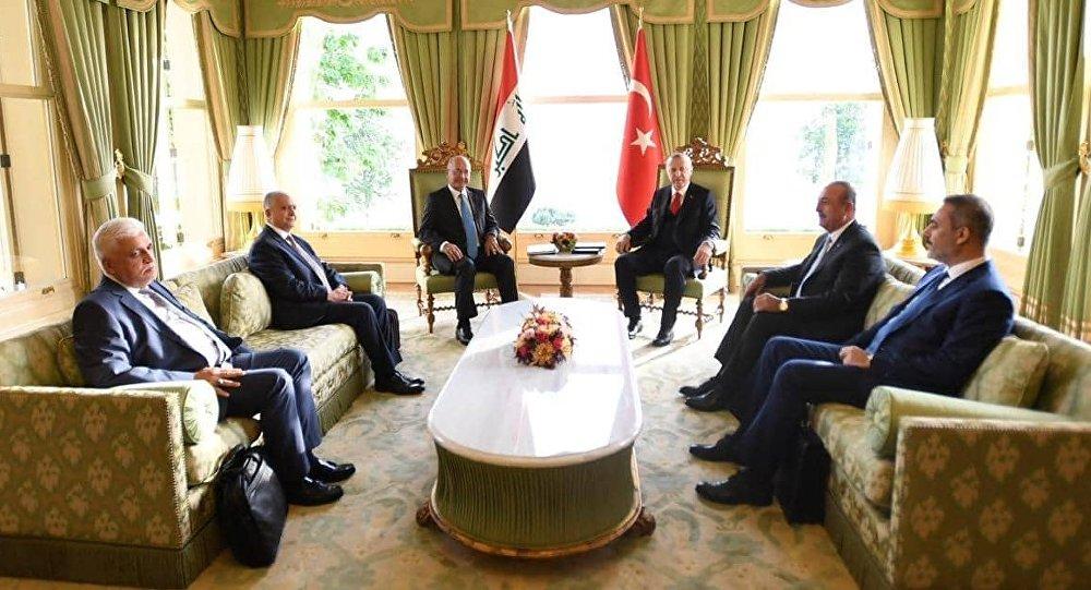 الرئيس العراقي برهم صالح والرئيس التركي رجب طيب أردوغان