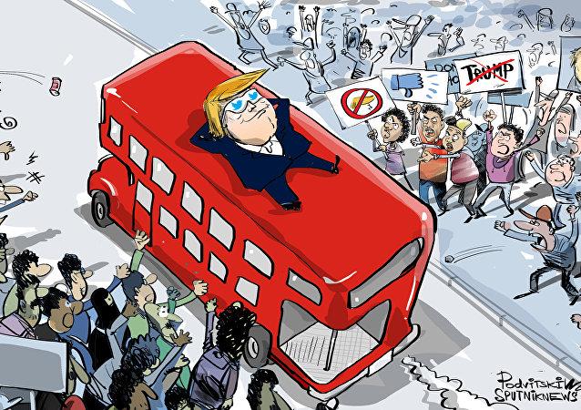 ترامب لا يرى أية احتجاجت حول زيارته إلى بريطانيا